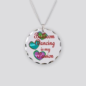 Ballroom Passion Necklace Circle Charm