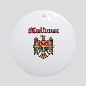 Moldova Coat of arms Ornament (Round)