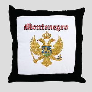 Montenegro Coat of arms Throw Pillow