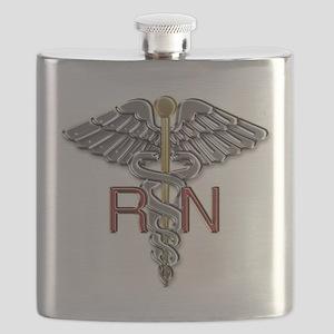 RN Medical Symbol Flask