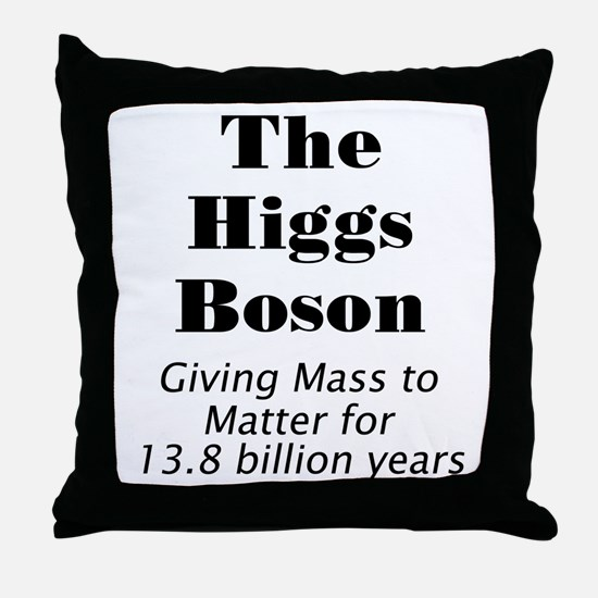 The Higgs Boson Throw Pillow