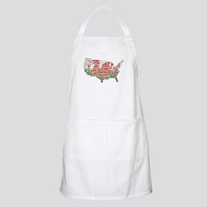 Welsh Place Names USA Map Apron