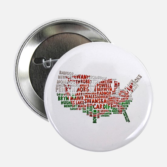 """Welsh Place Names USA Map 2.25"""" Button"""