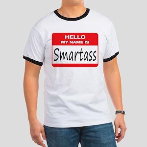 Smartass Name Tag Ringer T