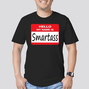 Smartass Name Tag Men's Fitted T-Shirt (dark)