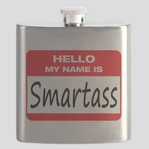 Smartass Name Tag Flask
