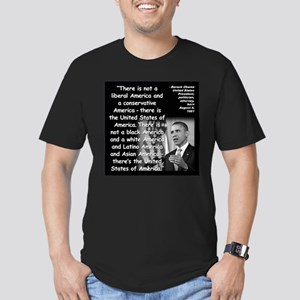 Obama America Quote 2 Men's Fitted T-Shirt (dark)