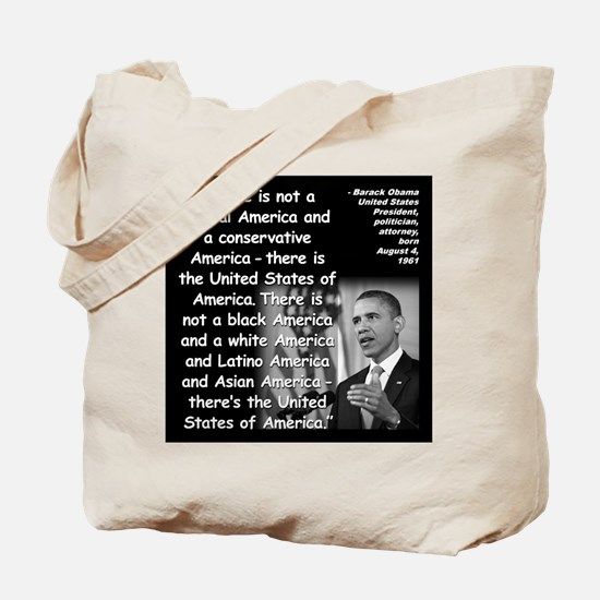 Obama America Quote 2 Tote Bag