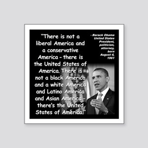 "Obama America Quote 2 Square Sticker 3"" x 3"""
