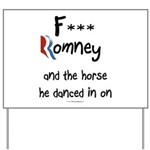 F Romney Yard Sign