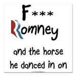 F Romney Square Car Magnet 3
