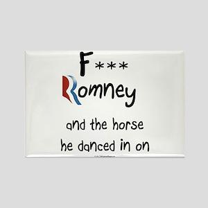F Romney Rectangle Magnet