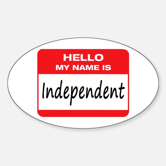 Independent Name Tag Sticker (Oval)