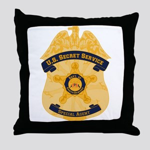 XXX Secret Service Badge Throw Pillow