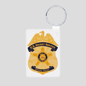 XXX Secret Service Badge Aluminum Photo Keychain