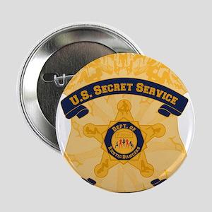 """XXX Secret Service Badge 2.25"""" Button"""