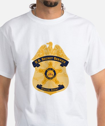 XXX Secret Service Badge White T-Shirt