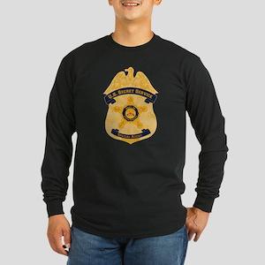 XXX Secret Service Badge Long Sleeve Dark T-Shirt