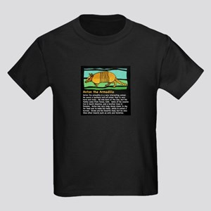 Anton the Armadillo Kids Dark T-Shirt