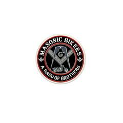 Masonic Bikers Mini Button