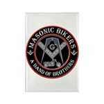 Masonic Bikers Rectangle Magnet