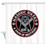 Masonic Bikers Shower Curtain