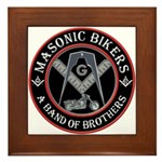 Masonic Bikers Framed Tile