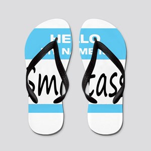 Smartass Name Tag Flip Flops