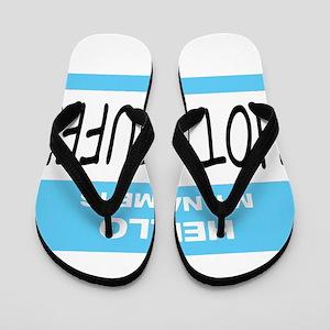 Hot Stuff Name Tag Flip Flops