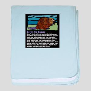 Betsy the Beaver baby blanket