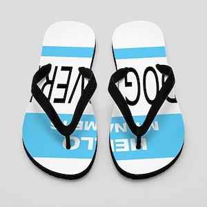 Dog Lover Name Tag Flip Flops