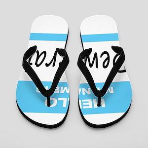 Democrat Name Tag Flip Flops