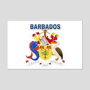 Barbadian Coat of Arms Mini Poster Print