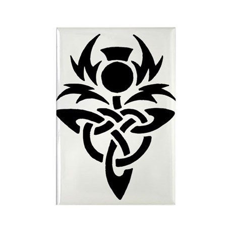 Tribal Thistle Rectangle Magnet (100 pack)