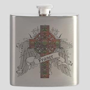 Fraser Tartan Cross Flask