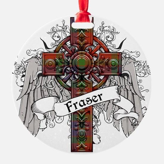 Fraser Tartan Cross Ornament