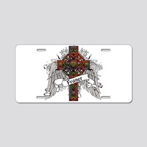 Fraser Tartan Cross Aluminum License Plate