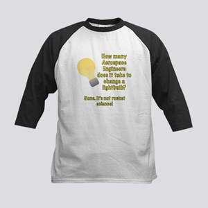 Aerospace Engineer Lightbulb Joke Kids Baseball Je