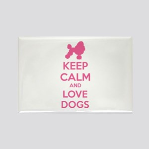 Keep calm and love dogs Rectangle Magnet