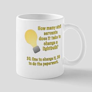 Civil Servants Lightbulb joke Mug