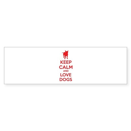 Keep calm and love dogs Sticker (Bumper)