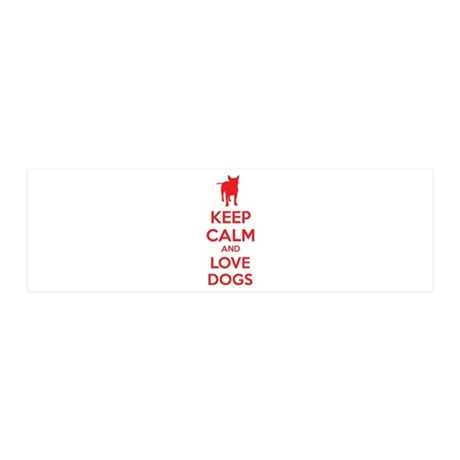 Keep calm and love dogs 42x14 Wall Peel