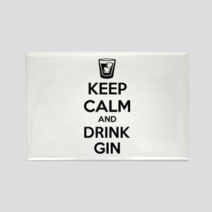 Keep calm and drink gin Rectangle Magnet