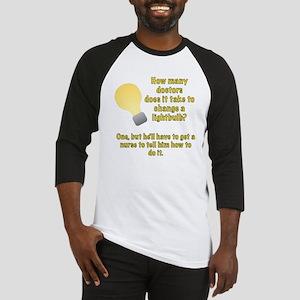 Doctor lightbulb joke Baseball Jersey