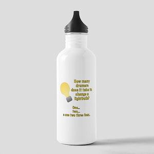 Drummer lightbulb joke Stainless Water Bottle 1.0L