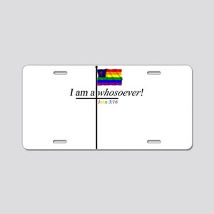Whosoever1 Aluminum License Plate