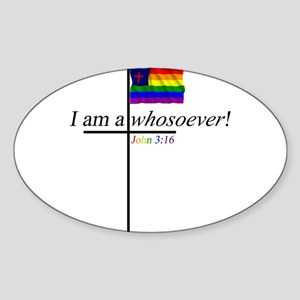 Whosoever1 Sticker (Oval)