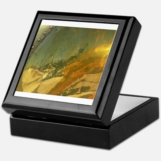 Abstract Brass Keepsake Box