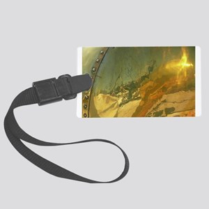 Abstract Brass Large Luggage Tag