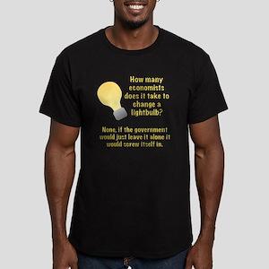 Economist Lightbulb joke Men's Fitted T-Shirt (dar
